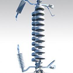 154kV 송전선로용 갭형피뢰기 및 설치장치